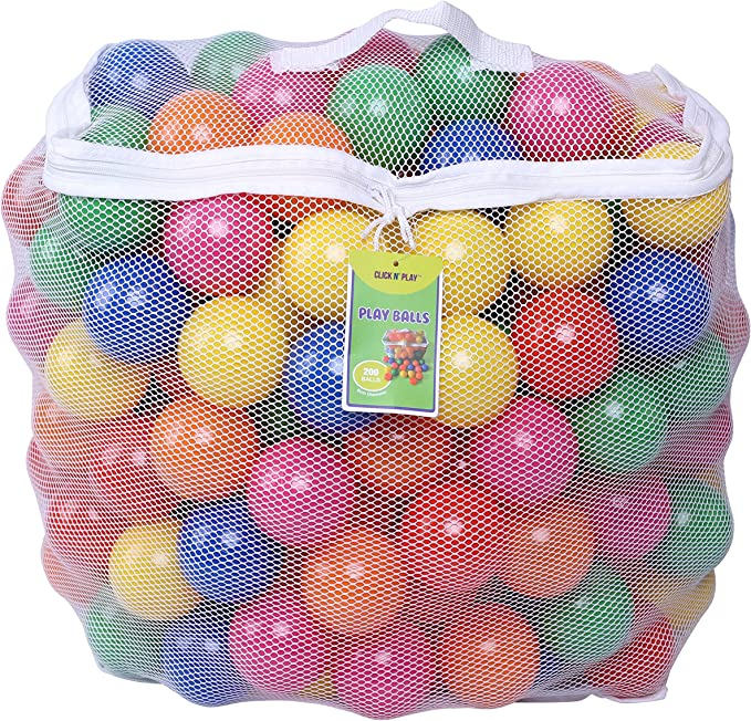 Click N' Play Pack of 200 Proof Plastic Balls - The Best Balls for a Ball Pit