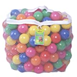Click N' Play Pack of 200 Phthalate Free BPA Free Crush Proof Plastic Ball, Pit Balls - 6 Bright Colors in Reusable and Durable Storage Mesh Bag with Zipper-Best-Popular-Product