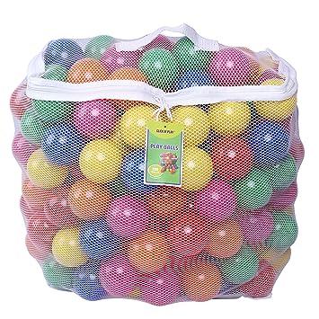 Paquete de 200 pelotas de plástico resistentes al aplastamiento, de ftalato, sin bisfenol A, para peloteros, ...
