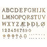 Or Buchstaben aus Bronze Grabschrift Grabbuchstaben