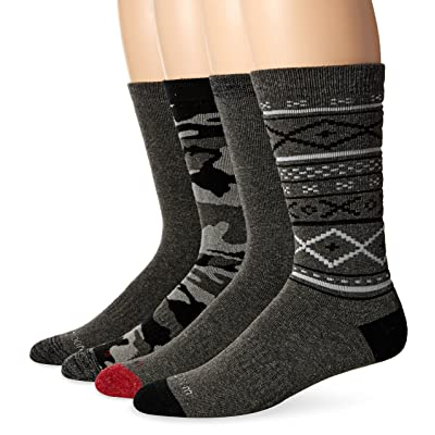 Wool IQ Men's Full Terry Crew 4-Pack, Cmaz, Sock Size: 10-13/Shoe Size:9-11 at Men's Clothing store