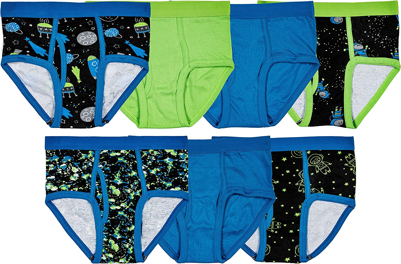 Trimfit Boys Soft Cotton Colorful Briefs Pack of 7 Kids Underwear