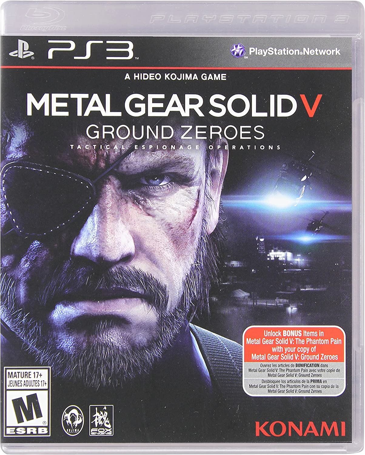 68c345966d2 Amazon.com  Metal Gear Solid V  Ground Zeroes - PlayStation 3 Standard  Edition  Konami of America  Video Games