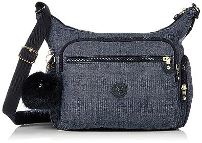 Gabbie BP Damen Schultertaschen, Grau (Cotton Grey), 35.5x30x18.5 cm Kipling