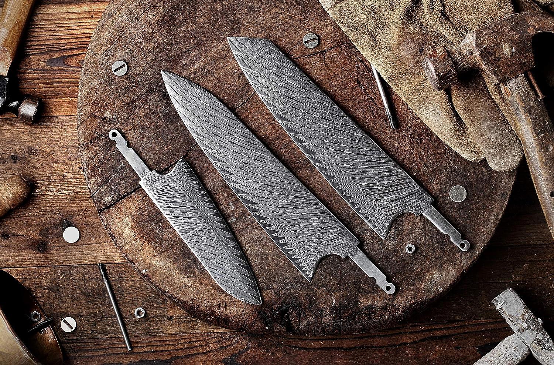 Amazon Com Katsura Woodworking Project Kit Santoku Knife Blank 5 2 Inch With 40mm Wide Blade Japanese Premium Aus 10 67 Layers Damascus Steel Classic Ebony Wa Style Series No Logo Kitchen Dining