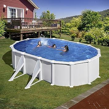 Gre KITPROV508- Piscina Atlantis desmontable ovalada de acero color blanco 500x300x132 cm: Amazon.es: Jardín