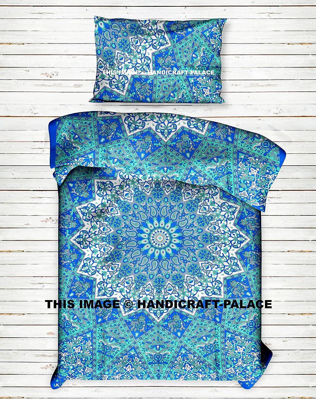 Star Mandala Duvet Cover Cotton Handmade Twin Size Single Bedding Set Comforter, Blanket,Quilt ,Doona Cover With Pillow Case Indian Art Bohemian Bedspread Mandala Bedding Set By Handicraftspalace 136