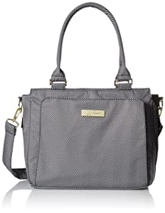 JuJuBe Be Classy Structured Multi-Functional Multi-Functional Diaper Bag/Purse, Legacy Collection - The Queen of The Nile - Black/White Chevron