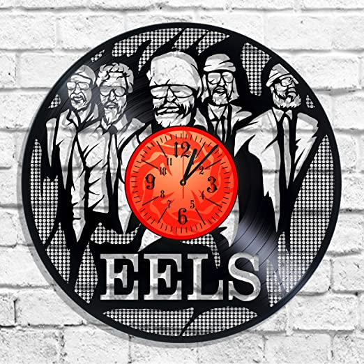Amazon Com Design Wall Clock Eels Rock Band Eels Decal Eels Music Wall Poster Home Kitchen