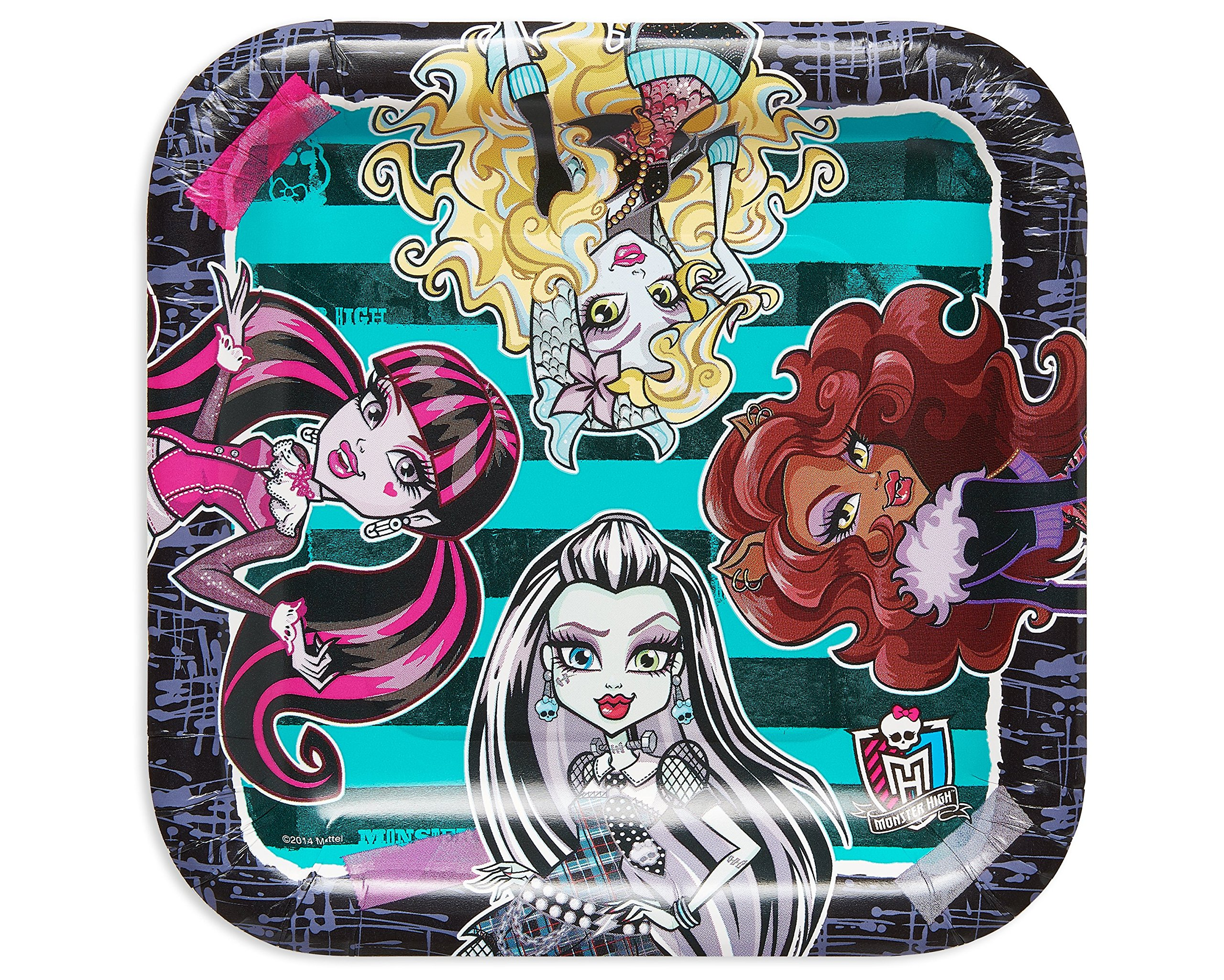 American Greetings Monster High Paper Dessert Plates, 8 Count