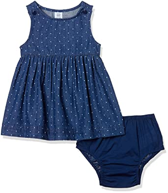 7a3e455e63 Gap Baby Girls Dotty denim tank dress  Amazon.in  Clothing   Accessories