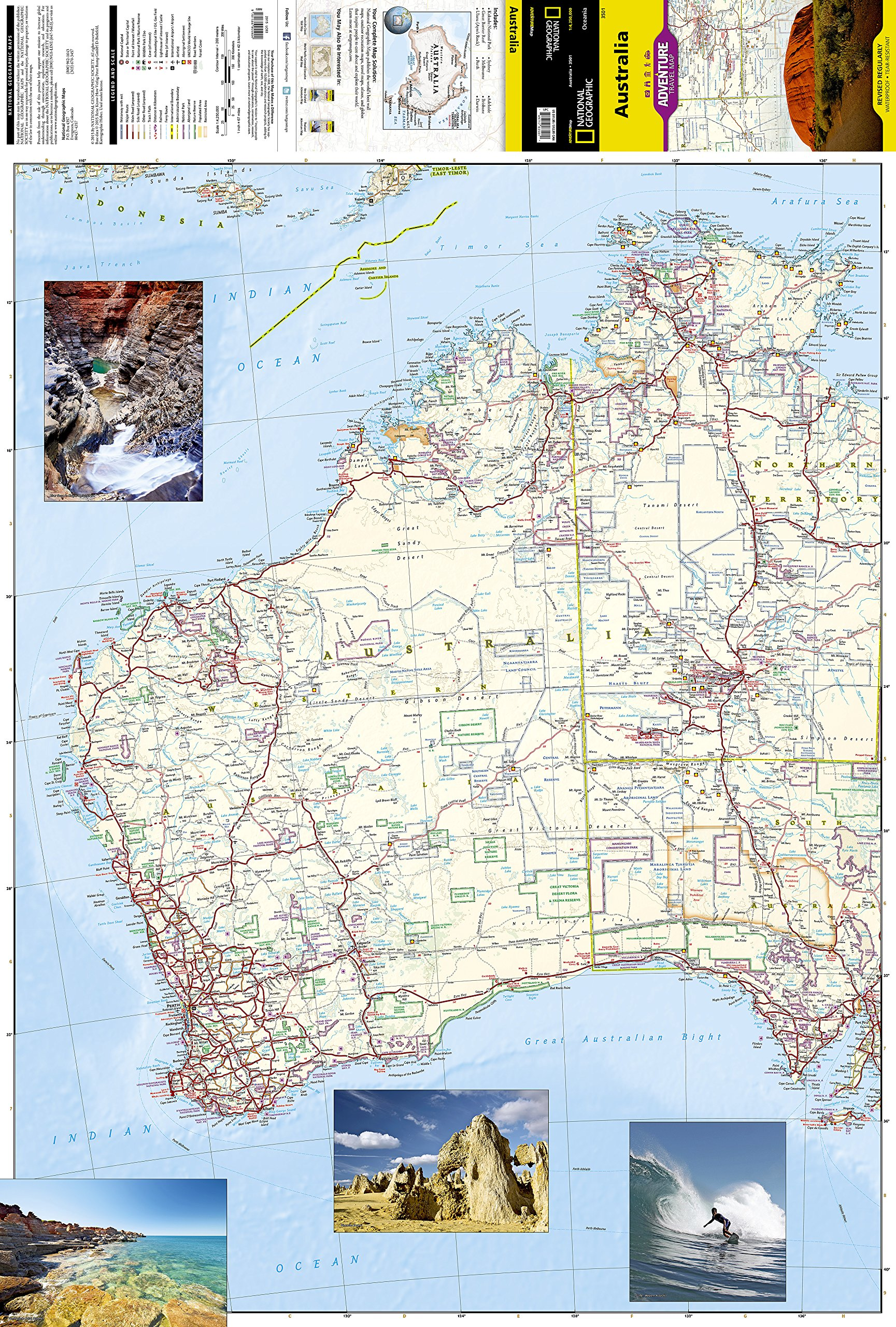 Australia national geographic adventure map national geographic australia national geographic adventure map national geographic maps adventure 9781566955904 amazon books gumiabroncs Gallery