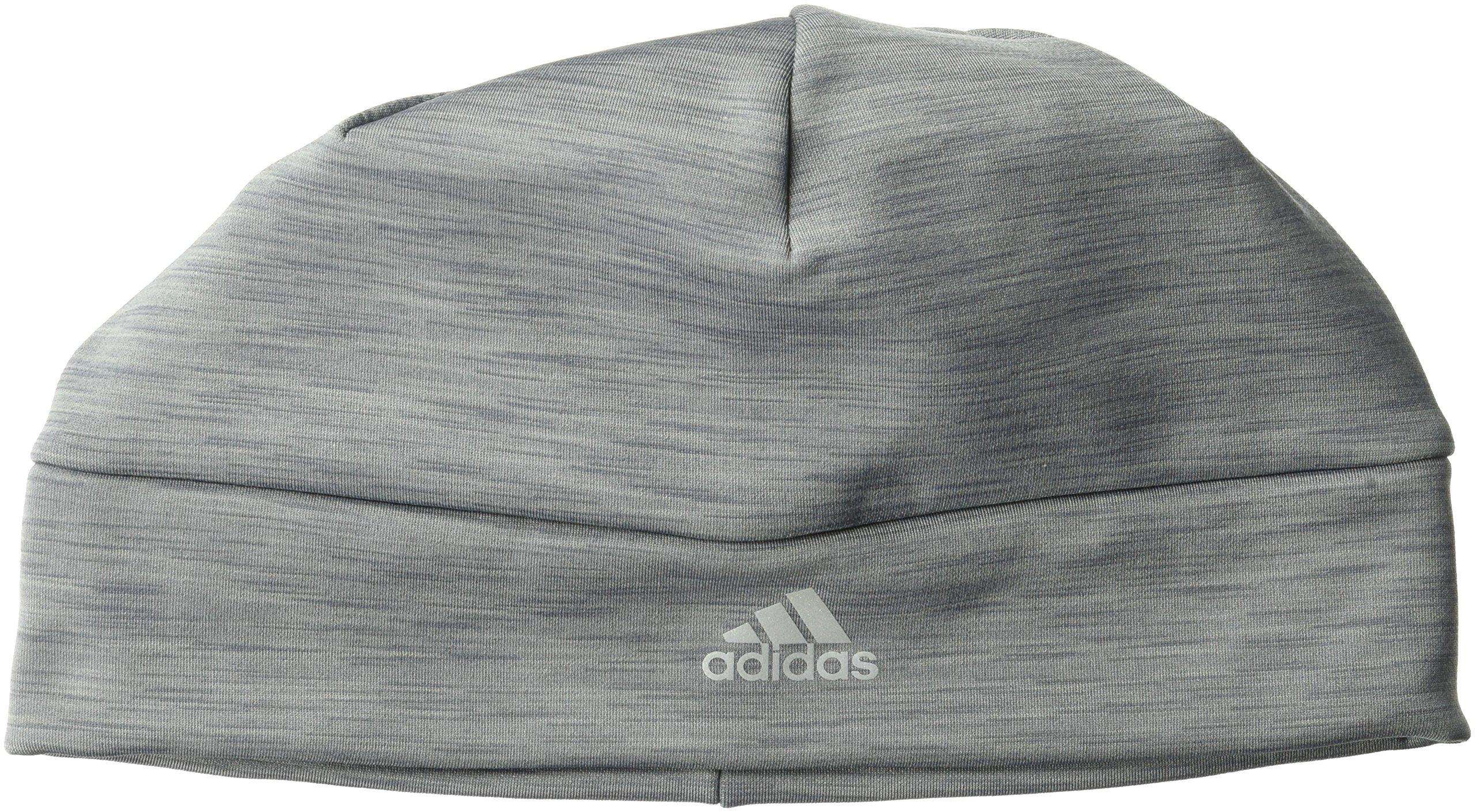 adidas Men's Sharp II Fleece Beanie, Grey, One Size