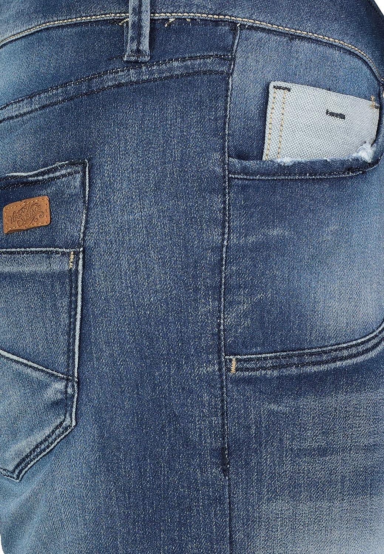 Urban Surface Damen Jeans Bermuda Shorts mit Knopfleiste