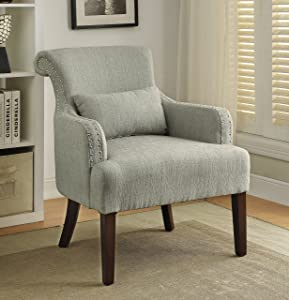 Furniture of America Venize Contemporary Style Accent Chair, Beige