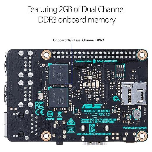 Amazon.com: ASUS SBC Tinker board RK3288 SoC 1.8GHz Quad ...