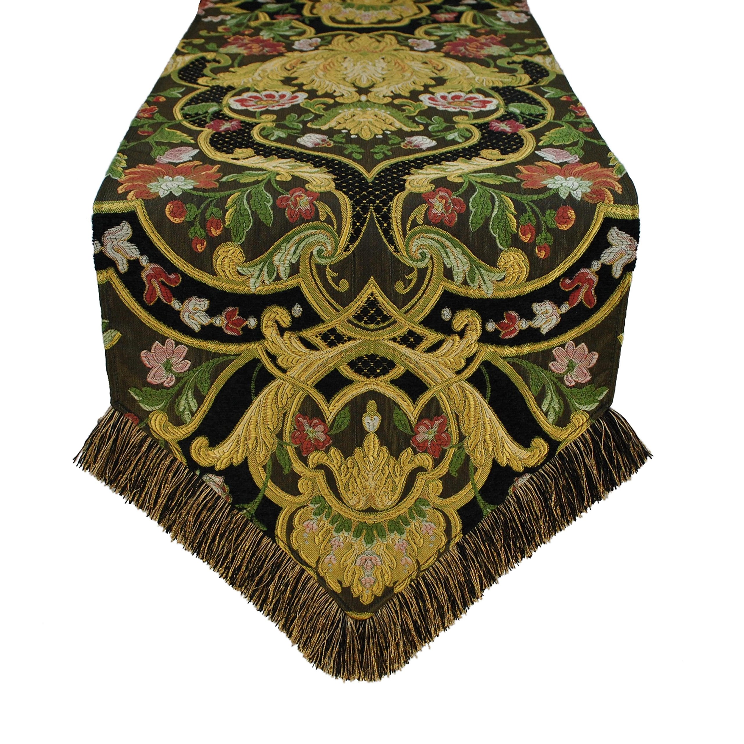 Austin Horn Classics Gustone Luxury Table Runner Design, Abstract, Graphic, Floral 13 x 108