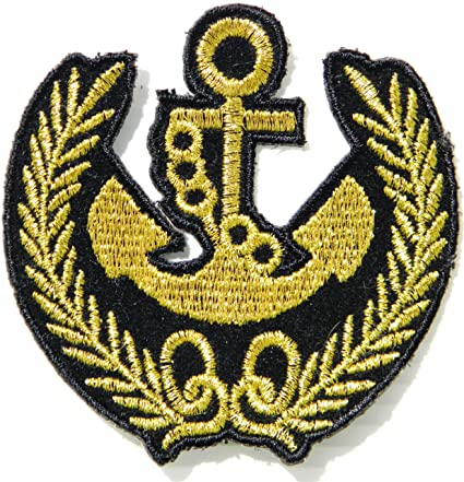 57b26338198 Image Unavailable. Image not available for. Color  UNITED STATES NAVY US Military  Army Anchor Jacket T shirt Patch Sew ...