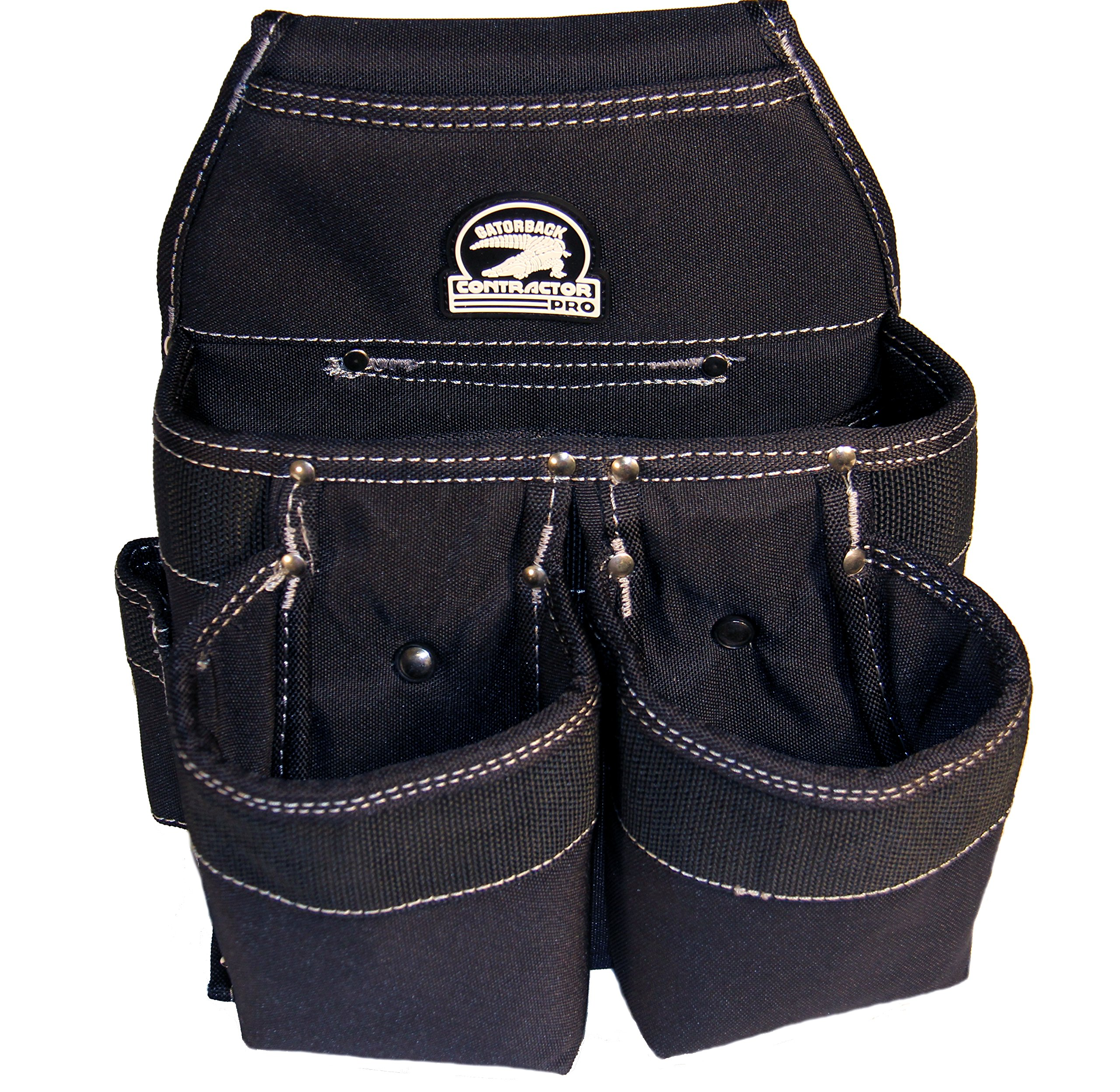 Gatorback Professional Carpenter's Tool Belt Deluxe Package (Tool Belt, Gloves, Suspenders, Drill Holster). Extreme Comfort and Durability (Medium 31'' - 35'' Waist) by Contractor Pro (Image #3)