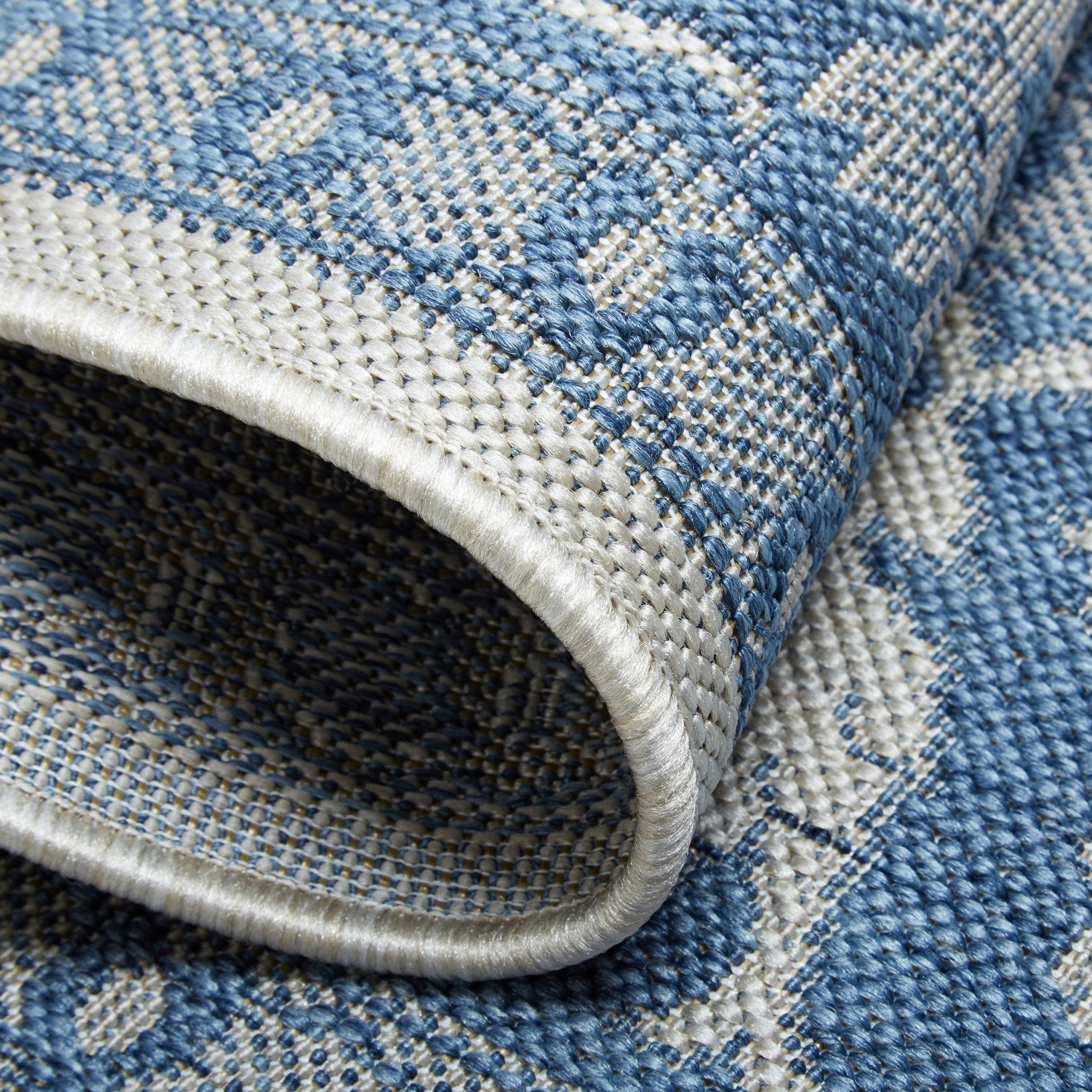 Home Dynamix Nicole Miller Patio Country Ayana Indoor/Outdoor Area Rug 7'9''x10'2'', Traditional Gray/Blue by Home Dynamix (Image #5)