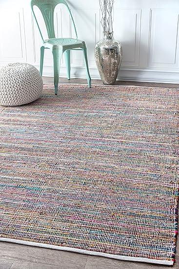 Amazon.com: nuloom mgnm08 a Sabina rayas área alfombra, 7 ...