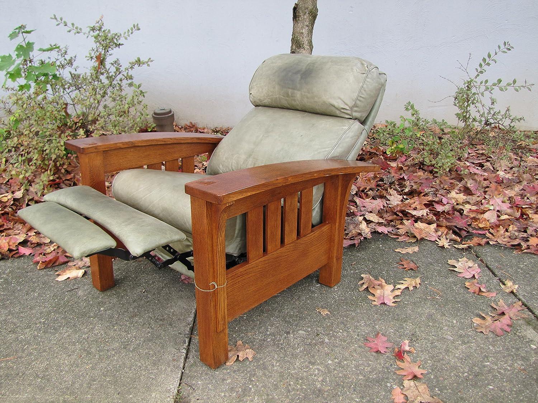 Surprising Amazon Com Reproduction Stickley Morris Chair With Foot Machost Co Dining Chair Design Ideas Machostcouk
