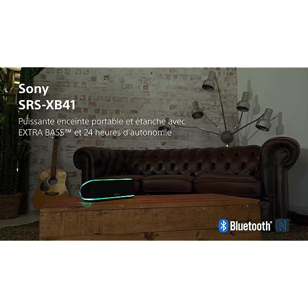 Sony SRS-XB41 Enceinte portable sans fil Bluetooth Waterproof avec effets lumière - Noir 7