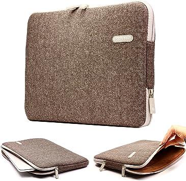Urcover® Funda Universal, Estuche Tablet/Ordenador Portátil, Funda de Viaje Protección Sleeve Bolso en Marrón, Laptop MacBook Notebook iPad Samsung Tab ASUS Acer: Amazon.es: Electrónica