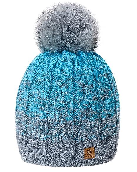 MFAZ Morefaz Ltd Winter Beanie Invernale Berretto Donne Uomo Cappello Pom  Pom Fodera in Pile Hat 97cd810b6960