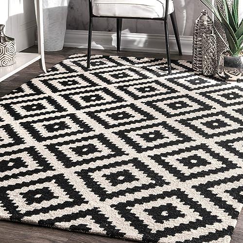 Black And White Area Rug Amazon Com