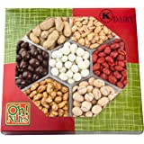 Nuts Gift Tray 7 Variety Assortment, Gourmet Food Gift, Beautiful Packaged Nuts in Gift Box, Awesome Flavored Peanuts Gift - Oh! Nuts (Flavored Nuts Assortment)