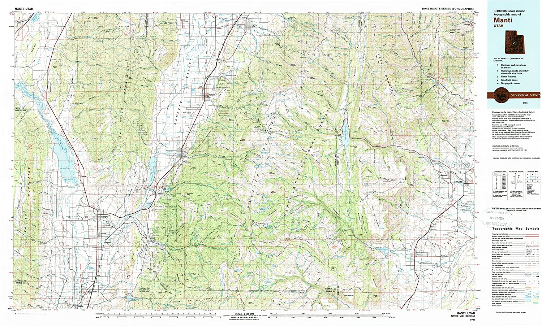 Amazon Com Yellowmaps Manti Ut Topo Map 1 100000 Scale 30 X 60