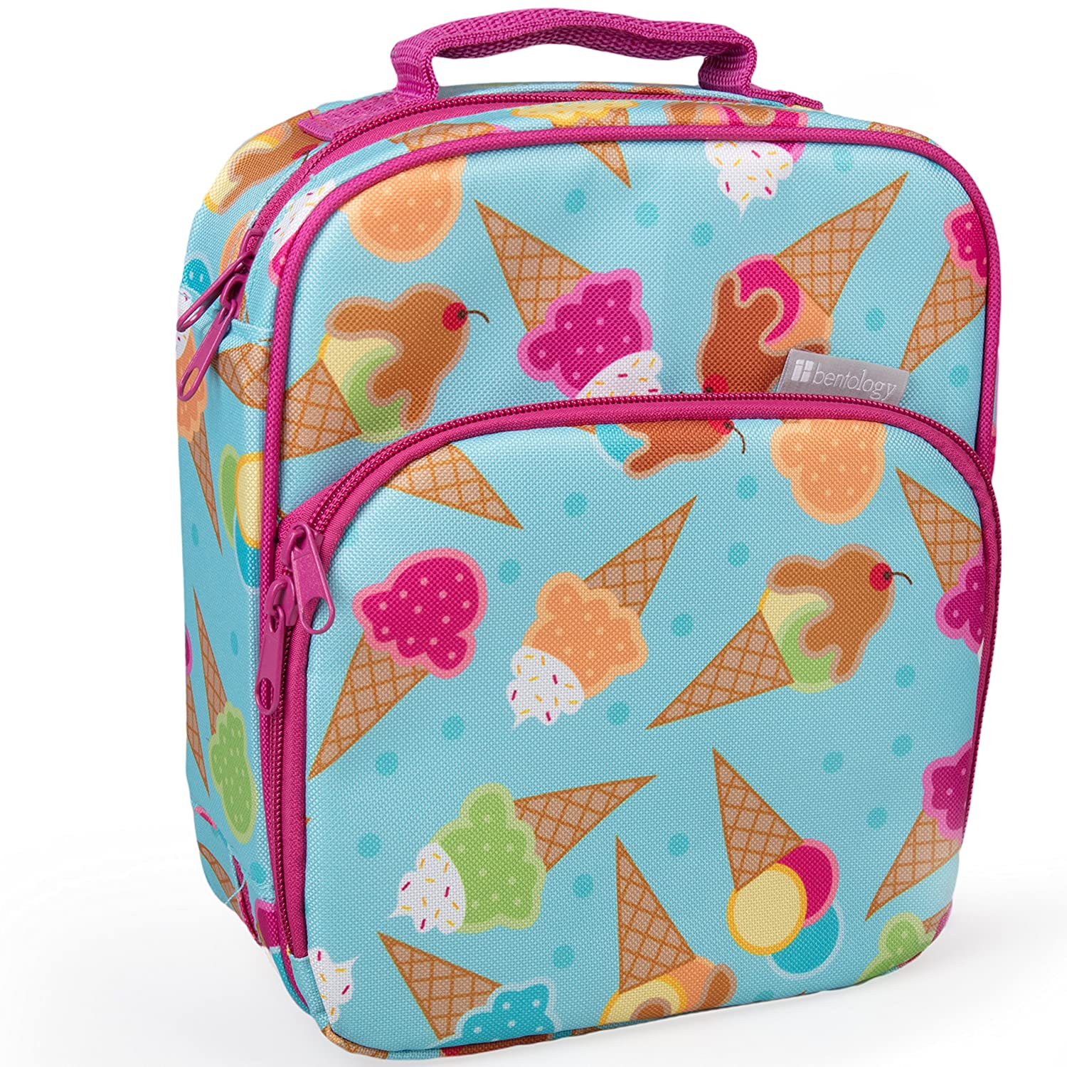 Insulated Durable Lunch Bag - Reusable Meal Tote with Handle and Pockets - Flamingo Bentology