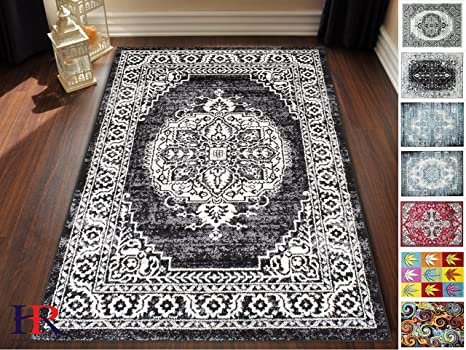 Amazon Com Hr Faded Oriental Rugs Distressed Vintage Persian Area