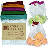Reusable Produce Bags The Original Eco - Friendly See Through and Washable Soft Premium Lightweight Nylon Mesh Large 12…