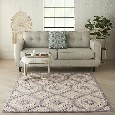 Amazon Com Nourison Palamos Indoor Outdoor Cream 4 X 6 Area Rug 4 X 6 Furniture Decor