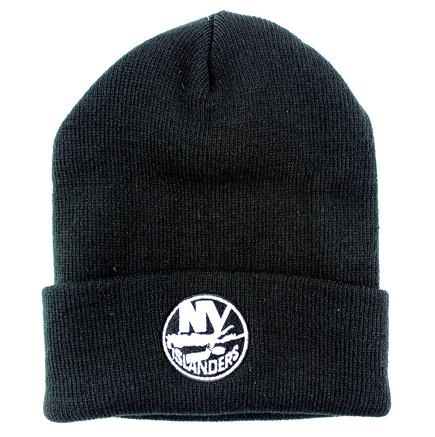 New York Islanders NHL Basic Beanie Cuffed Knit Hat Black