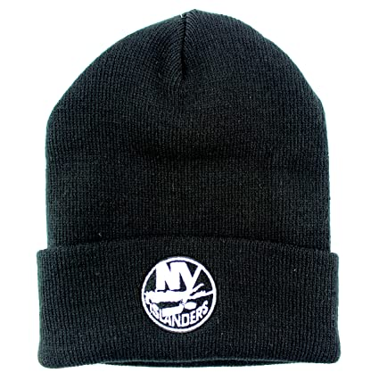2e8c5f003 Image Unavailable. Image not available for. Color: New York Islanders NHL  Basic Beanie Cuffed Knit Hat Black