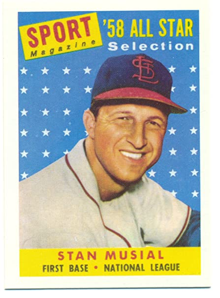 1991 Topps Stan Musial 1958 Reprint From The 1991 East Coast