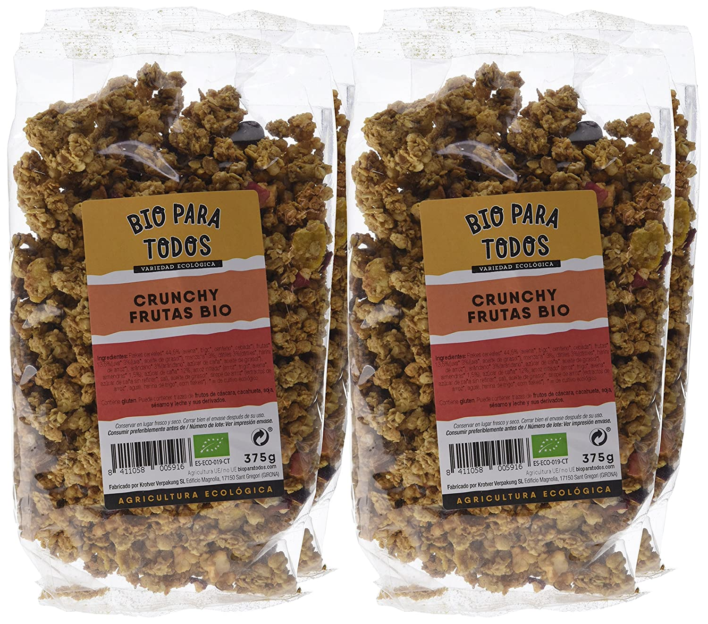 Bio para todos Crunchy Frutas Bio - 4 Paquetes de 375 gr - Total: 1500 gr: Amazon.es: Alimentación y bebidas