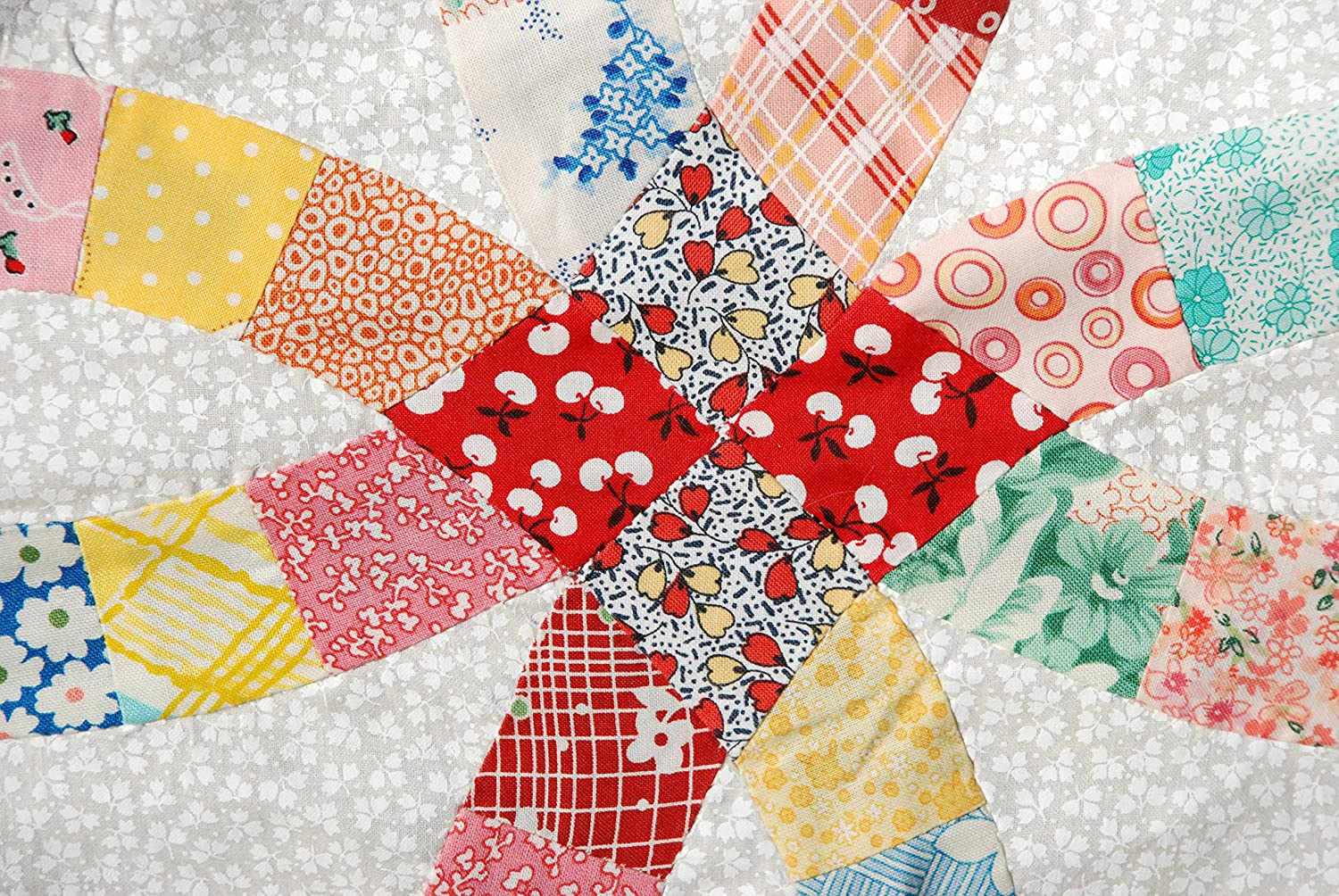 Pre Cut Double Wedding Ring Quilt Kit Ozarkmountainquilter Dwrqk