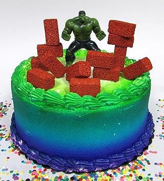 Amazoncom Super Hero Avengers INCREDIBLE HULK Birthday Cake Topper