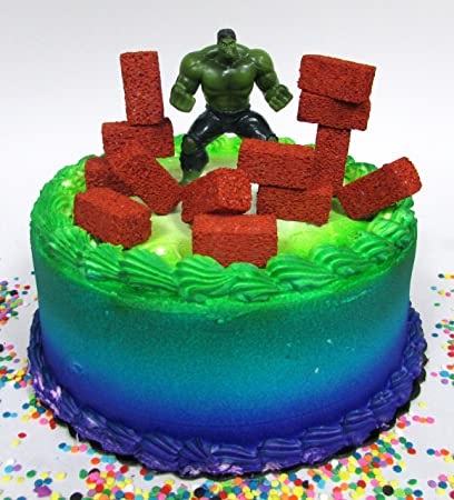 Amazoncom Super Hero Avengers Incredible Hulk Birthday Cake Topper