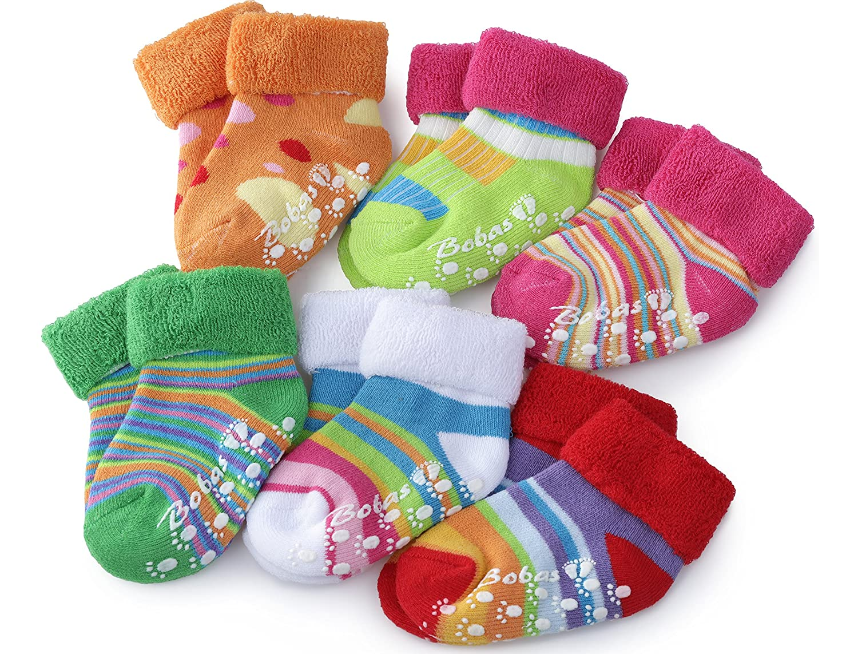 Bobobaby Bebé Niñas y Niños Calcetines 6 Pack BS-423(Multi-3, 10-11cm)