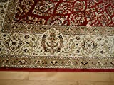 Silk Rugs Red Traditional Rugs for Living Room 8x12
