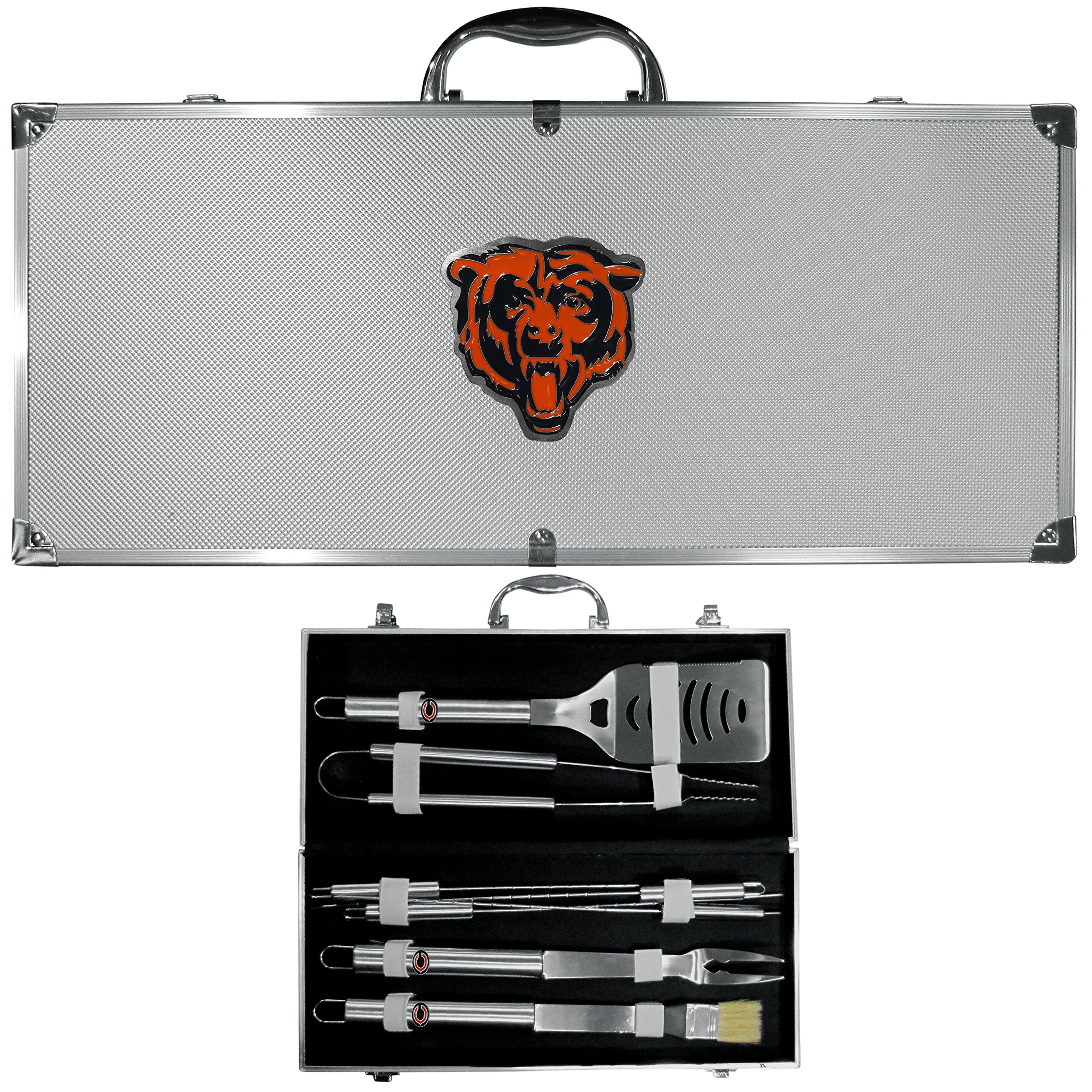 Siskiyou NFL Chicago Bears 8-Piece Barbecue Set w/Case