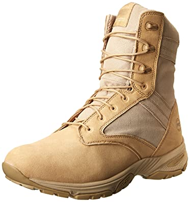 Timberland PRO Men's 8 Inch Valor Soft Toe Tan Duty Boot,Desert Tan With  Textile