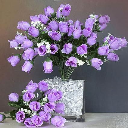 Amazon balsacircle 180 lavender mini silk roses buds 12 balsacircle 180 lavender mini silk roses buds 12 bushes artificial flowers wedding party centerpieces mightylinksfo