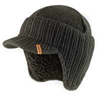 Scruffs Peaked Beanie Hat Warm Winter Insulated Workwear (Graphite Grey)