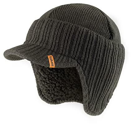 11ad7873c Scruffs T54305 Peaked Knitted Hat Graphite